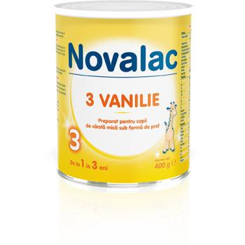 Novalac 3 vanilie, pentru copii de varsta mica 400 gr SUN WAVE PHARMA