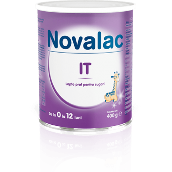 Novalac it, lapte praf pentru sugari 400 gr SUN WAVE PHARMA