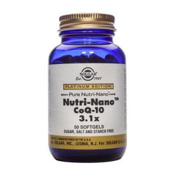Nutri-nano coenzima q-10 3.1x 50 cps SOLGAR