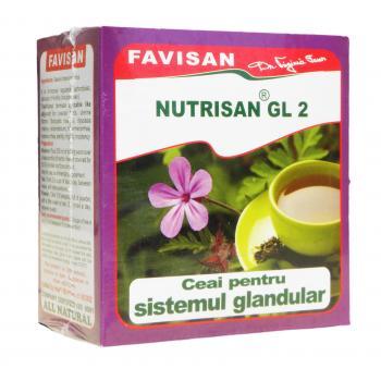 Nutrisan gl2- ceai pentru sistemul glandular a033 50 gr FAVISAN