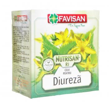Nutrisan r1- ceai pentru diureza a044 50 gr FAVISAN