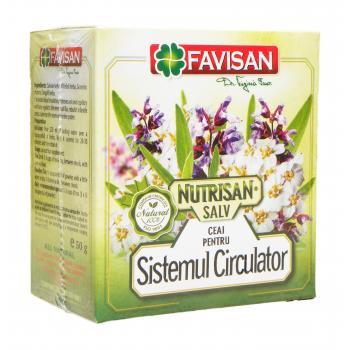 Nutrisan salv- ceai pentru sistemul circulator a046 50 gr FAVISAN