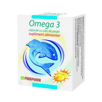 Omega 3 -capsule cu ulei de peste 90 cps PARAPHARM