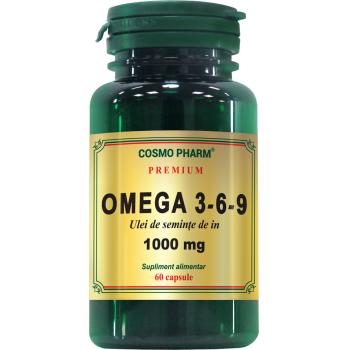 Omega 3-6-9 ulei din seminte de in 1000mg 60 cps COSMOPHARM