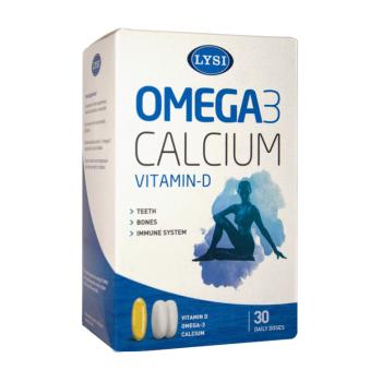Omega 3, calcium si vitamina d 30 cps LYSI