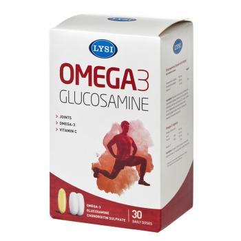 Omega 3 cu glucozamina si condroitina 30 cps LYSI