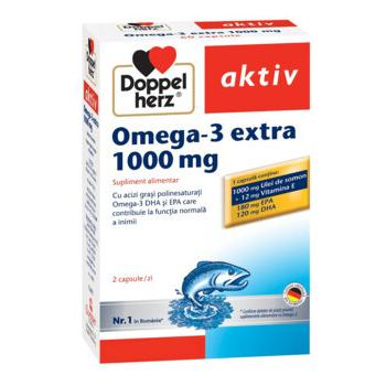 Omega 3 extra 1000 mg 60 cps DOPPEL HERZ