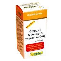 Omega 3 & omega 6 vegetal 600mg