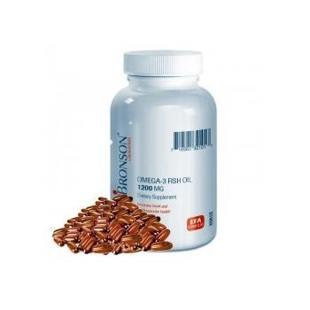 Omega 3 ulei de peste 1200 mg 100 cps BRONSON