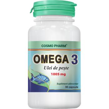 Omega 3 ulei de peste 30 cps COSMOPHARM