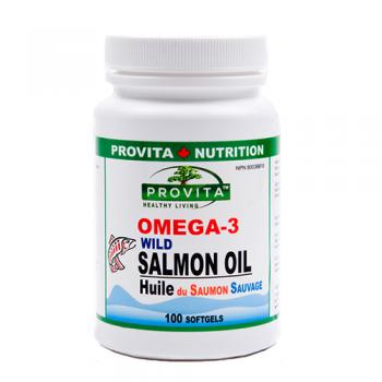 Omega 3 ulei de somon salbatic 100 cps PROVITA