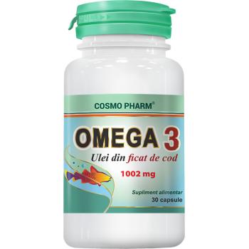 Omega 3 ulei din ficat de cod 30 cps COSMOPHARM