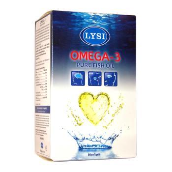 Omega 3, ulei pur de peste 80 cps LYSI