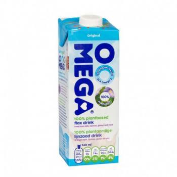 Omega lapte de in cu vitamine si calciu 1 ml SANO VITA