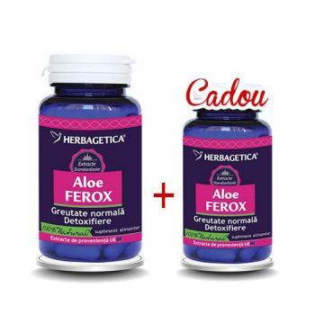 Pachet aloe ferox 60+30 gratuit 90 cps HERBAGETICA
