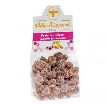 Perle cu miere,propolis si echinacea 100 gr ALBINA CARPATINA