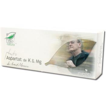 Phyto aspartat de k & mg 30 cps PRO NATURA