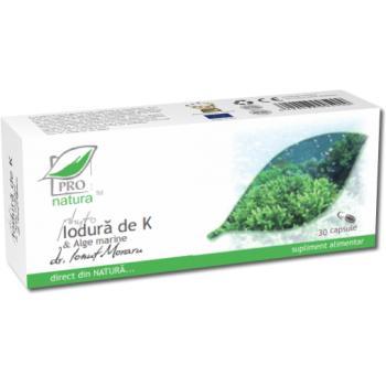 Phyto iodura de k & alge marine 30 cps PRO NATURA