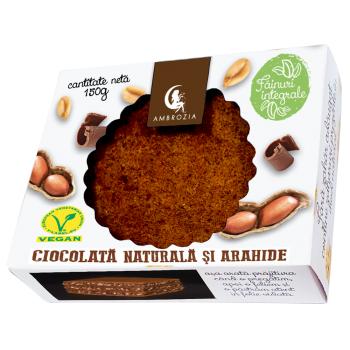 Prajitura vegana cu ciocolata si arahide 150 gr AMBROZIA