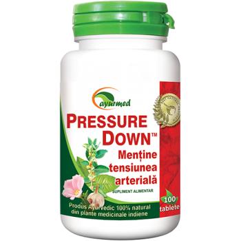 Pressure down, mentine presiunea arteriala 100 tbl AYURMED
