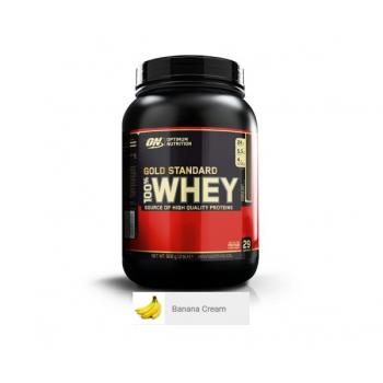 Proteina din zer on gold standard 100% whey banana cream 908 gr OPTIMUM NUTRITION