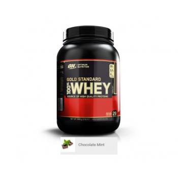 Proteina din zer on gold standard 100% whey chocolate mint 908 gr OPTIMUM NUTRITION