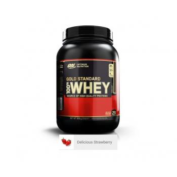 Proteina din zer on gold standard 100% whey delicious strawberry 908 gr OPTIMUM NUTRITION