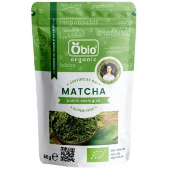 Pudra ecologica matcha raw vegan  60 gr OBIO
