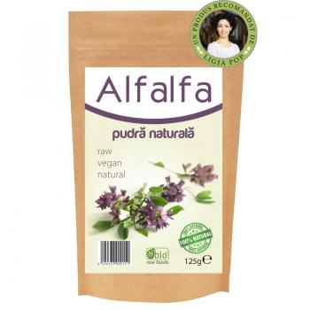 Pudra naturala de alfalfa (lucerna) 125 gr OBIO