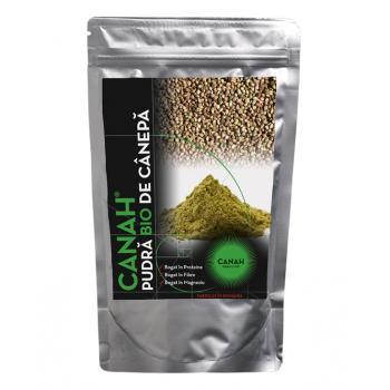 Pudra proteica din seminte de canepa, certificata ecologic 500 gr CANAH