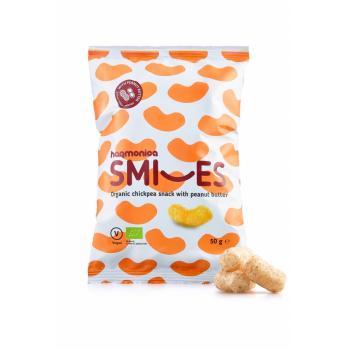 Pufuleti smiles cu unt de arahide 50 gr ECOMANIA