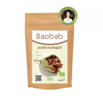 Pulbere de baobab raw bio 125 gr OBIO