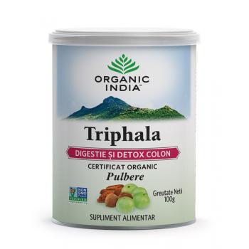 Pulbere triphala organica 100 gr ORGANIC INDIA