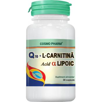 Q10gel l-carnitina acid alfa lipoic 30 cps COSMOPHARM