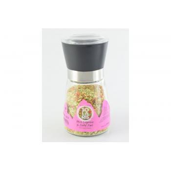 Rasnita reutilizabila cu mix de legume si sare roz de himalaya 80 gr SOLARIS