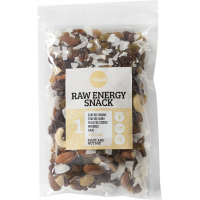 Raw energy snack 1 stafide, migdale, caju, banana chips, arahide crude