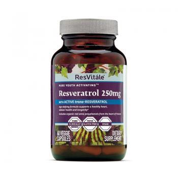 Resvitale resveratrol 250mg  60 cps GNC