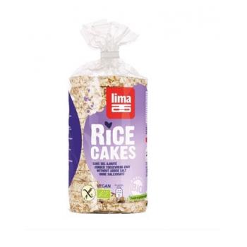 Rondele de orez expandat fara sare bio 100 gr LIMA