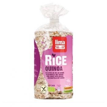 Rondele din orez expandat cu quinoa bio  100 gr LIMA