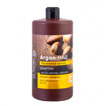 Sampon hidratant pentru par deteriorat cu ueli de argan si cheratina   1000 ml DOCTOR SANTE