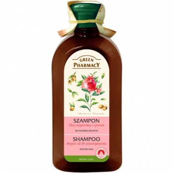 Sampon pentru par uscat cu ulei de argan si rodie 350 ml GREEN PHARMACY