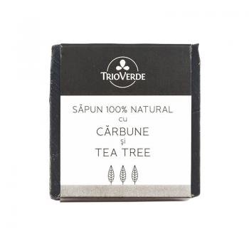 Sapun 100% natural cu carbune si tea tree 110 gr TRIO VERDE
