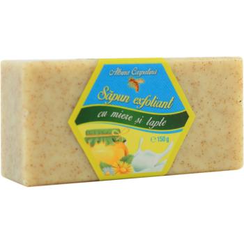 Sapun exfoliant cu miere si lapte 150 gr ALBINA CARPATINA