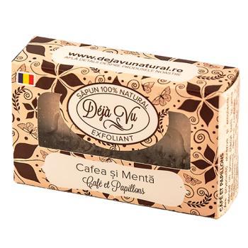 Sapun natural cu cafea si menta 90 gr DEJA VU