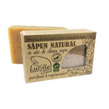 Sapun natural cu ulei de chimen negru  90 gr LUCILLE