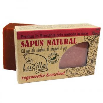 Sapun natural cu ulei din samburi de struguri si goji 90 gr LUCILLE