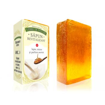 Sapun revitalizant cu lapte, miere si parfum asortat vol.3 100 gr VERRE DE NATURE