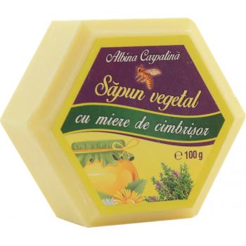 Sapun vegetal cu miere de cimbrisor 100 gr ALBINA CARPATINA