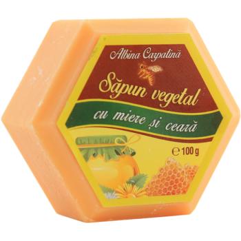 Sapun vegetal cu miere si ceara 100 gr ALBINA CARPATINA
