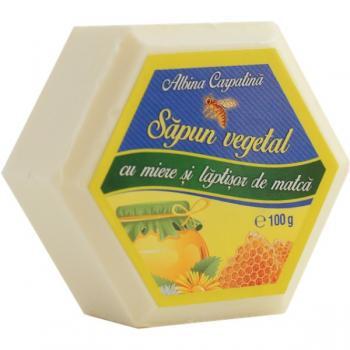 Sapun vegetal cu miere si laptisor de matca 100 gr ALBINA CARPATINA